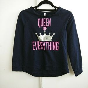 Queen of Everything Crown Long Sleeve Pullover
